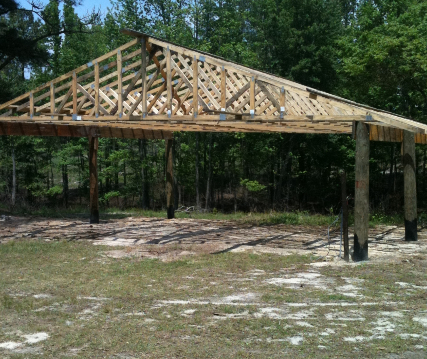 Pole barn construction sand hills pointing breeds club for Barn construction designs
